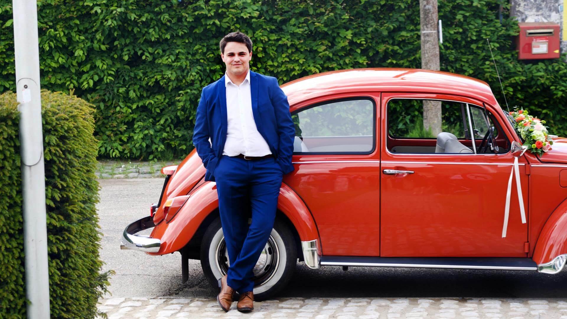 Tim Vervoort, chauffeur oranje Kever